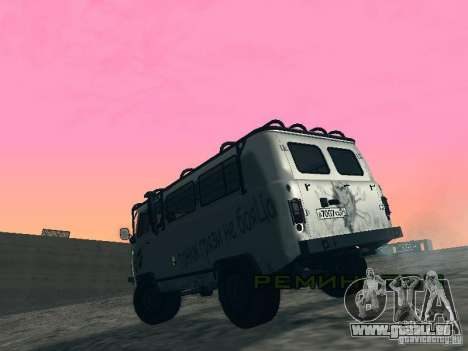 UAZ 2206 für GTA San Andreas Rückansicht