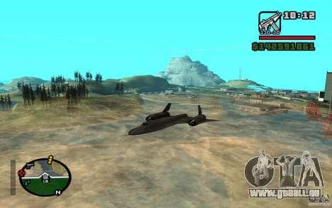 SR-71 Blackbird pour GTA San Andreas laissé vue