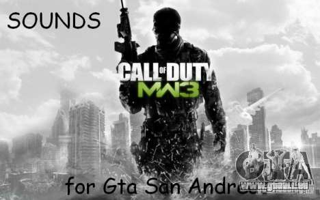 Arme sonore de CoD MW3 pour GTA San Andreas
