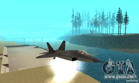 YF-22 Black pour GTA San Andreas vue de côté