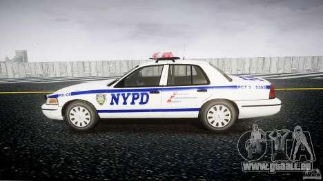 Ford Crown Victoria Police Department 2008 NYPD für GTA 4 Rückansicht