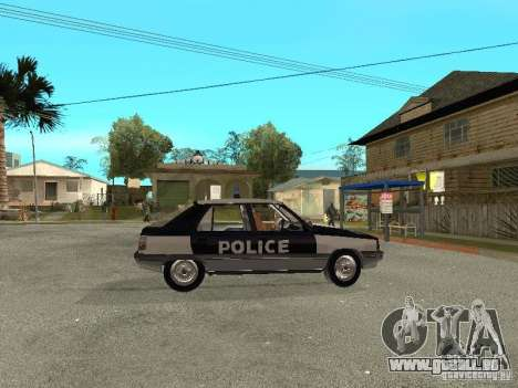 Renault 11 Police pour GTA San Andreas vue de droite