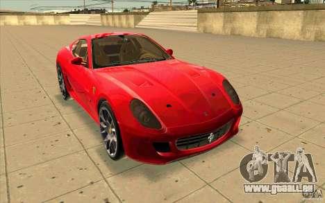 Ferrari 599 GTB Fiorano für GTA San Andreas rechten Ansicht