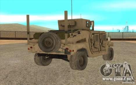 Hummer H1 Military HumVee für GTA San Andreas linke Ansicht