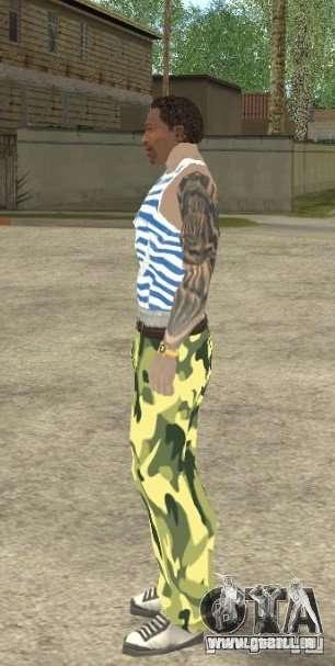 CJ VDV pour GTA San Andreas cinquième écran