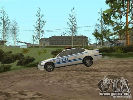 Police de GTA 4 pour GTA San Andreas sur la vue arrière gauche