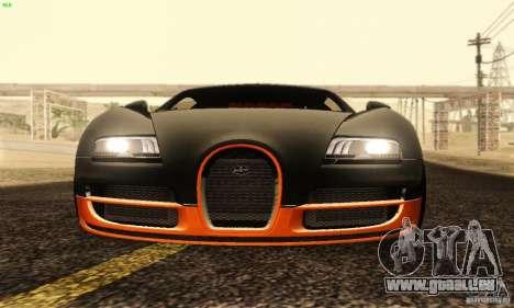 Bugatti Veyron SuperSport für GTA San Andreas obere Ansicht
