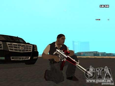 White Red Gun pour GTA San Andreas quatrième écran