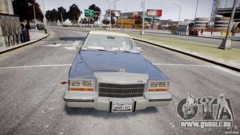 Cadillac Fleetwood Brougham 1985 pour GTA 4 est une vue de dessous