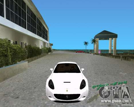 Ferrari California pour GTA Vice City sur la vue arrière gauche