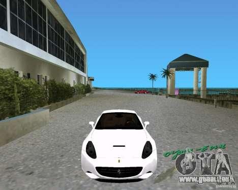 Ferrari California für GTA Vice City zurück linke Ansicht