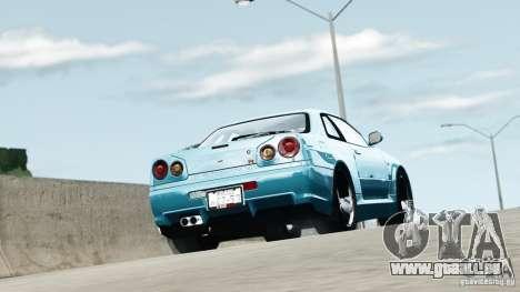 Nissan Skyline GT-R (R34) Stance pour GTA 4 est une gauche