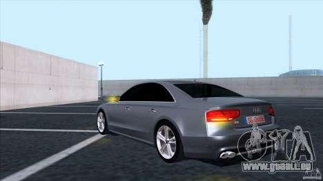 Audi S8 2012 pour GTA San Andreas vue arrière