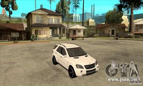 Mercedes-Benz ML 63 pour GTA San Andreas vue arrière