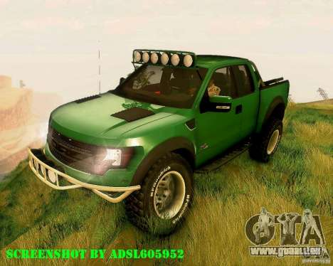 Ford F150 2011 SVT RapTor pour GTA San Andreas