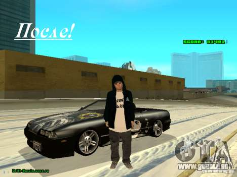 Vêtements avec Victor Coem pour GTA San Andreas deuxième écran