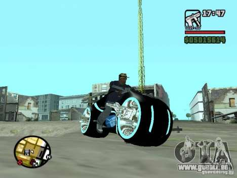 Tron legacy bike v.2.0 für GTA San Andreas linke Ansicht