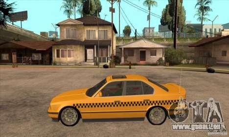 BMW E34 535i Taxi pour GTA San Andreas laissé vue