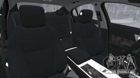 Jaguar XFR 2010 v2.0 für GTA 4 Innenansicht