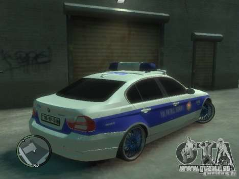 BMW 320i Police pour GTA 4 est un droit