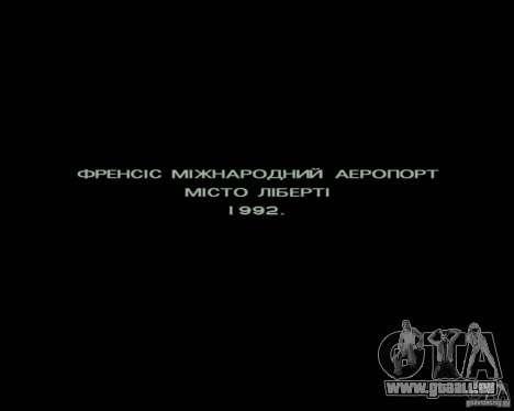 Ukraïnizator 2.0 pour GTA San Andreas troisième écran