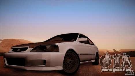 Honda Civic Coupe Si Coupe 1999 für GTA San Andreas zurück linke Ansicht