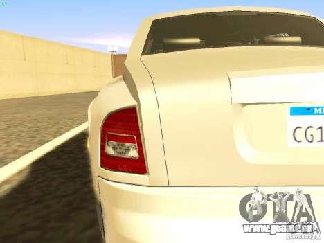 Rolls-Royce Phantom V16 für GTA San Andreas obere Ansicht