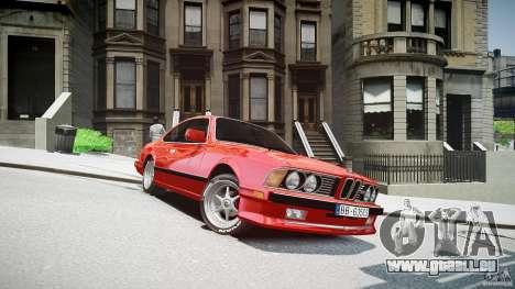 BMW M6 v1 1985 pour GTA 4 Vue arrière