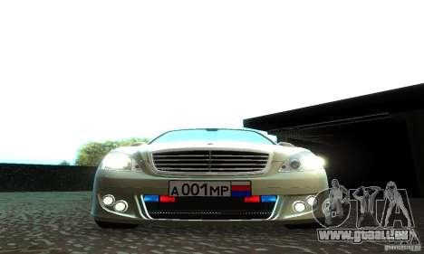 Mercedes-Benz S500 W221 Brabus für GTA San Andreas Seitenansicht
