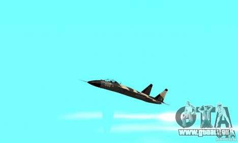 Su-47 « berkut » Cammo pour GTA San Andreas vue intérieure
