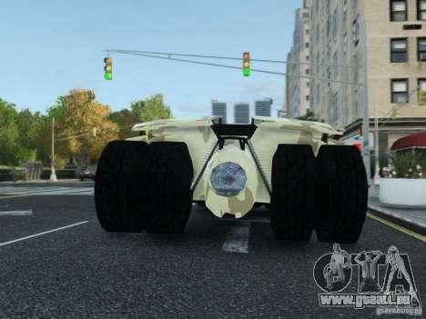HQ Batman Tumbler für GTA 4 Innenansicht