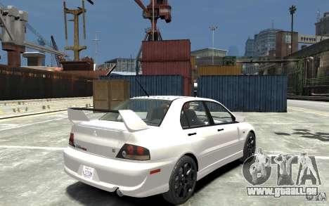 Mitsubishi Lancer Evolution IX 2010 für GTA 4 rechte Ansicht