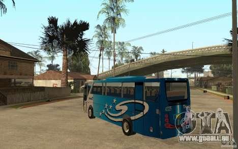 Hino New Travego V.Damri für GTA San Andreas zurück linke Ansicht
