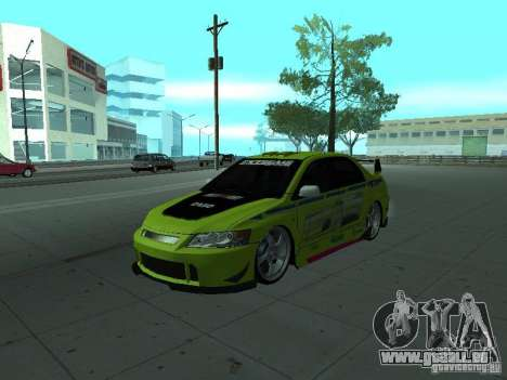Mitsubishi Lancer Evolution 8 pour GTA San Andreas roue