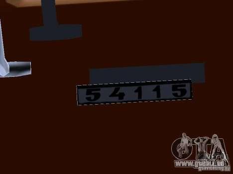 KAMAZ 54115 LKW für GTA San Andreas Innenansicht