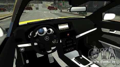 Mercedes-Benz E 500 Coupe V2 pour GTA 4 vue de dessus