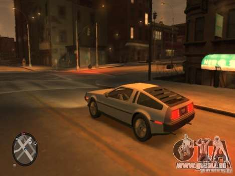 De Lorean DMC 12 pour GTA 4 Vue arrière