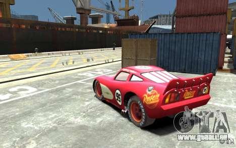 Lighting McQueen pour GTA 4 Vue arrière de la gauche
