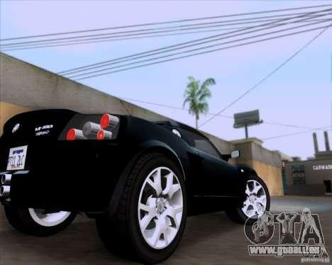 Vauxhall VX220 Turbo für GTA San Andreas Rückansicht