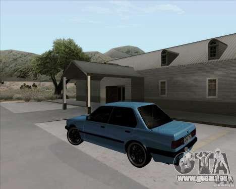BMW M3 E30 323i street pour GTA San Andreas laissé vue