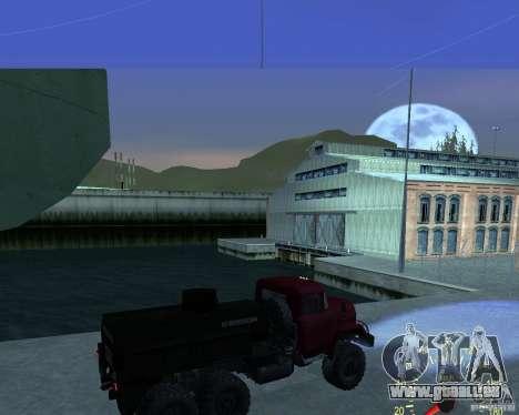 ZIL 131 Tankwagen für GTA San Andreas zurück linke Ansicht