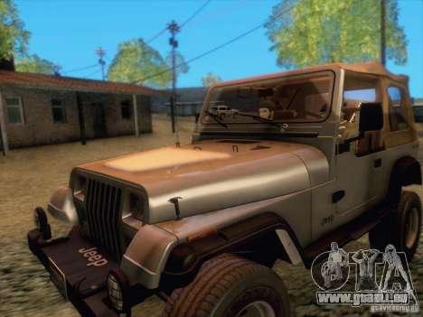 Jeep Wrangler 1994 pour GTA San Andreas laissé vue