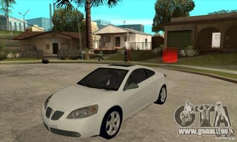 Pontiac G6 Stock Version pour GTA San Andreas