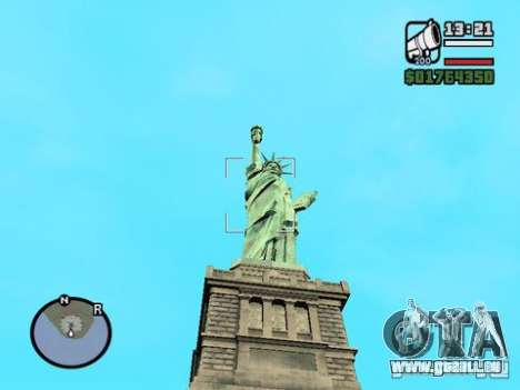 The Statue Of Liberty für GTA San Andreas