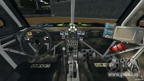 Hummer H3 raid t1 für GTA 4 Rückansicht