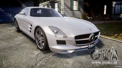 Mercedes-Benz SLS AMG 2010 [EPM] pour GTA 4 est une vue de l'intérieur