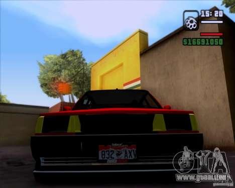 Renault Fairway pour GTA San Andreas sur la vue arrière gauche