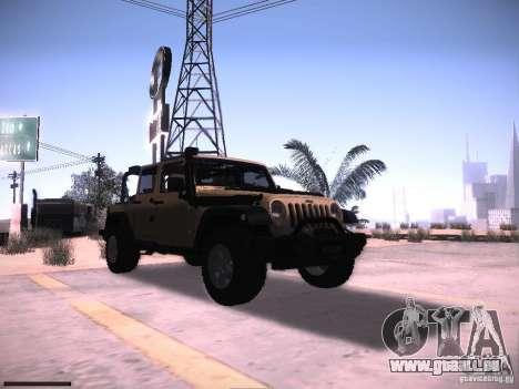 Jeep Wrangler Rubicon Unlimited 2012 pour GTA San Andreas vue arrière