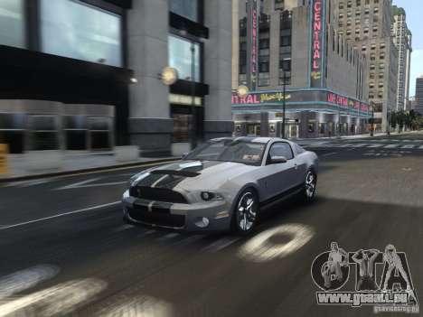 Shelby GT500 2010 für GTA 4 Seitenansicht