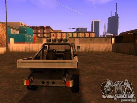 Camionnette de T3 pour GTA San Andreas sur la vue arrière gauche